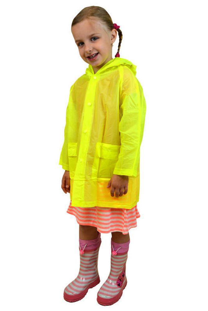 Pláštenka detská neónová, Pidilidi, PL0065, žlutá - S