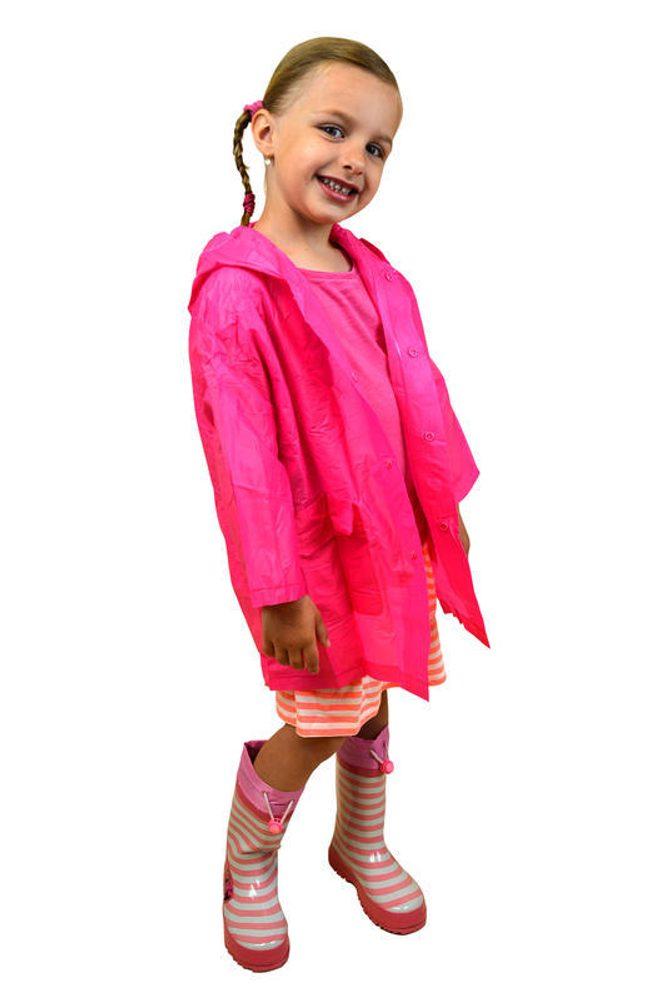 Pláštenka detská neónová, Pidilidi, PL0065, růžová - S