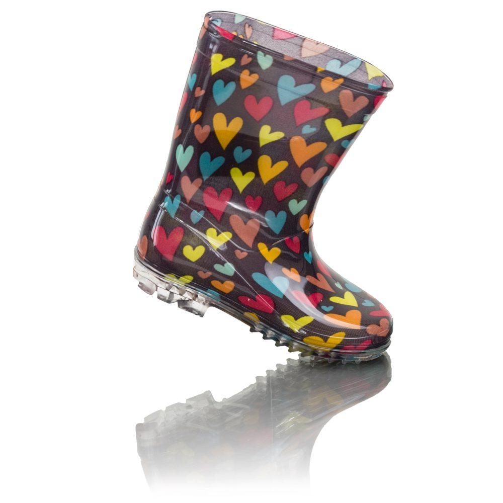 dievčenské čižmy PVC - farebné srdiečka, Pidilidi, PL0088, Holka - 30