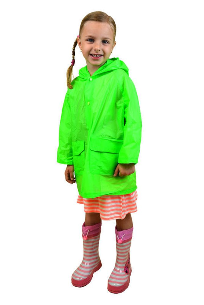 Pláštenka detská neónová, Pidilidi, PL0065, zelená - S