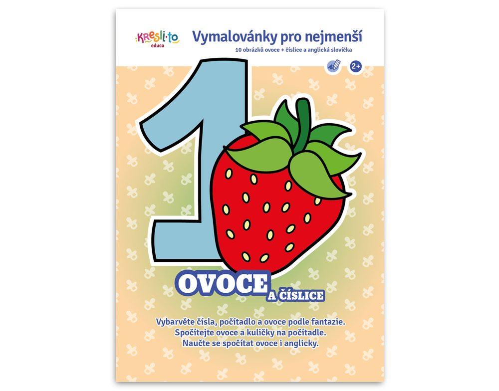 Maľovanky pre najmenších - Ovocie a číslice, Kresli.to, W011302