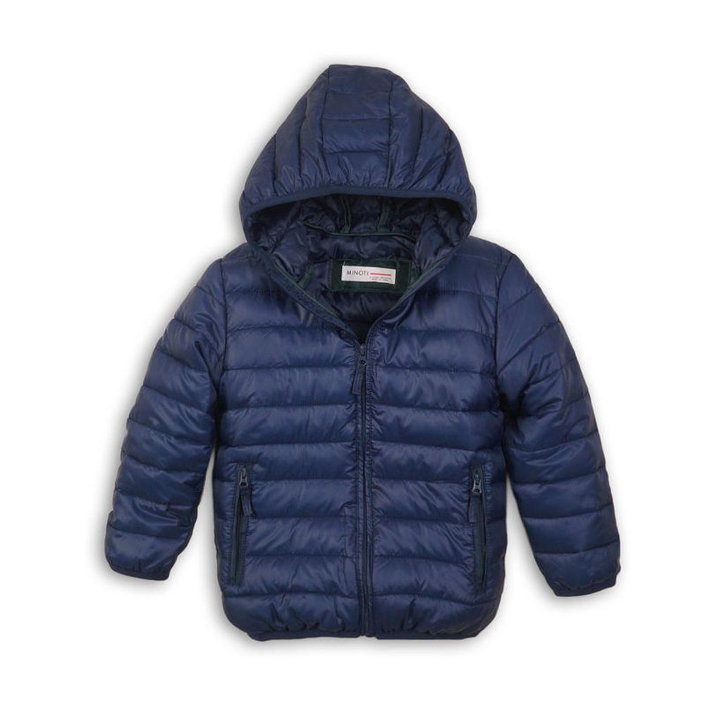 Bunda chlapčenská zimná Puffa nylonová, Minoti, NINETY 9, modrá - 98/104