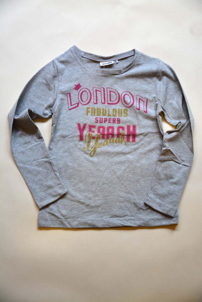 Levně tričko dívčí s dlouhým rukávem, Wendee, ozfb102506-2, šedá - 134