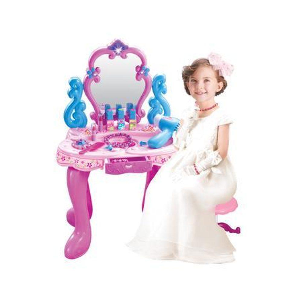 Dievčenské kozmetický stolík s doplnkami (bez stoličky), Wiky, W114554