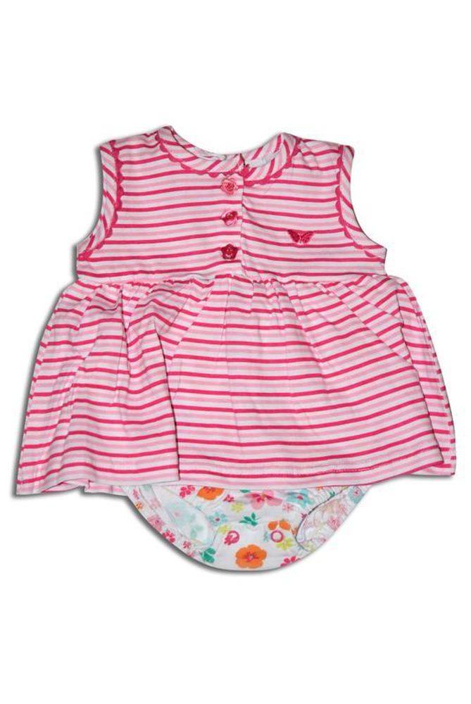 šaty dievčenské, Minoti, TROPICAL 2, růžová - 56/62