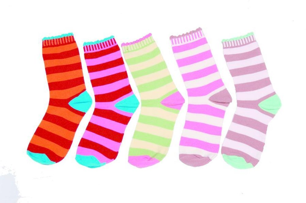 Detské pruhované ponožky, Pidilidi, PD511, holka