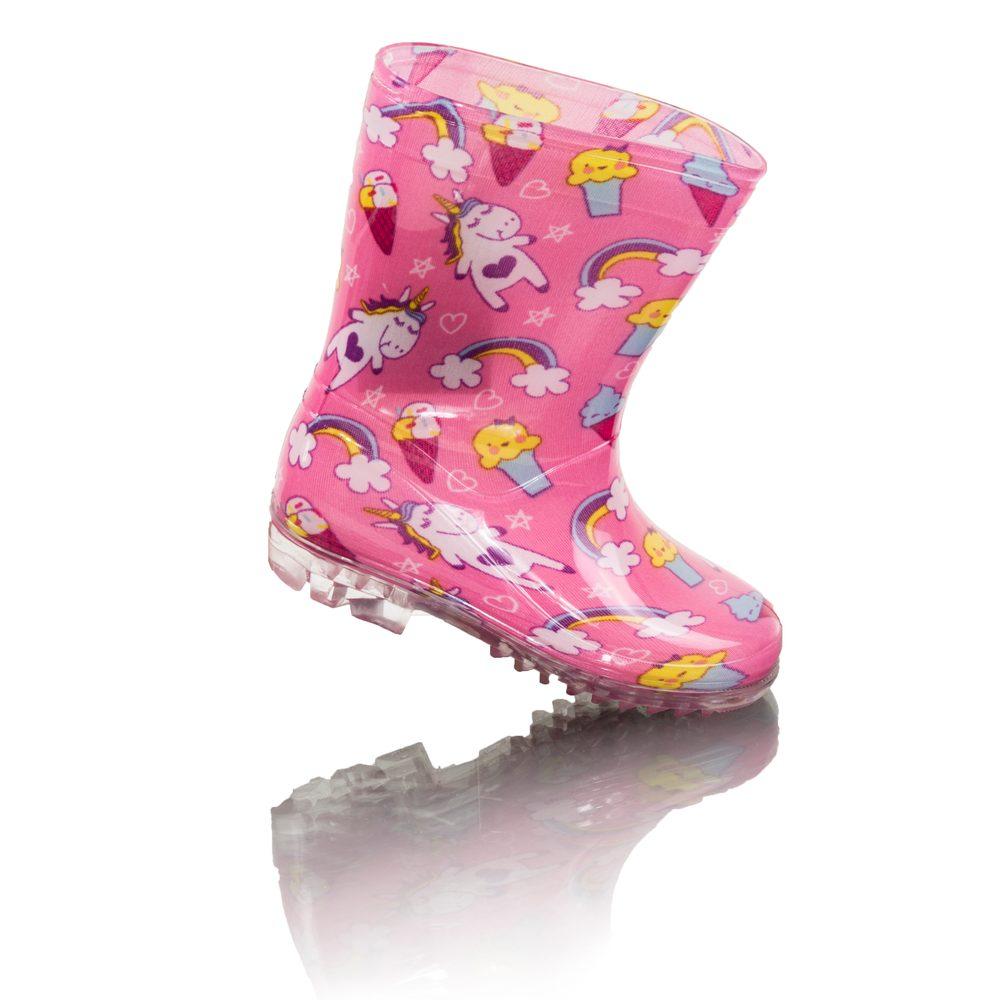 dievčenské čižmy PVC - potlač jednorožec, Pidilidi, PL0089, ružová - 30