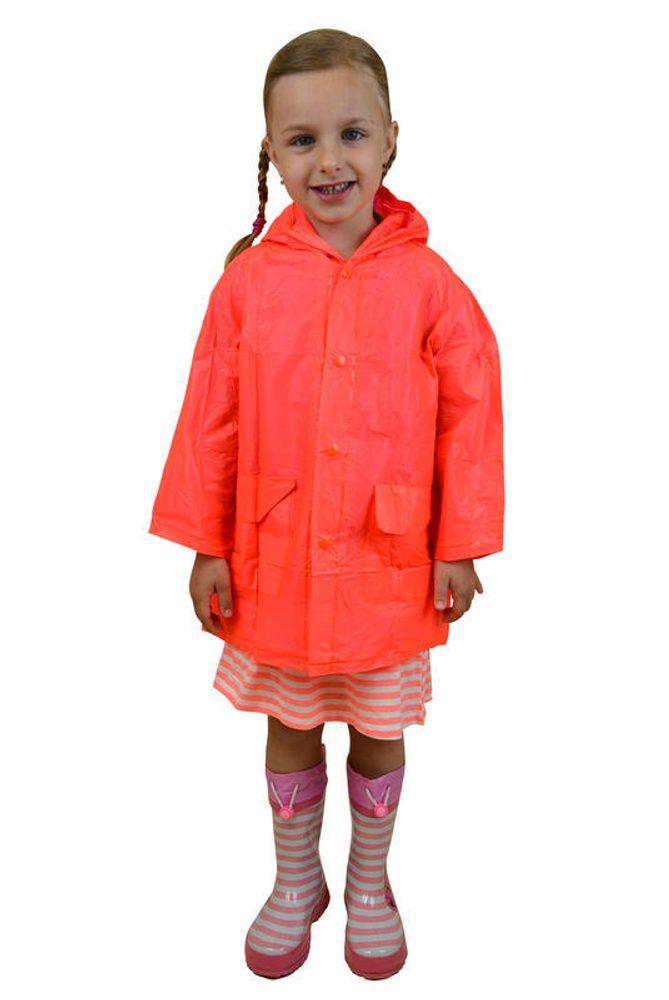 Pláštenka detská neónová, Pidilidi, PL0065, oranžová - S