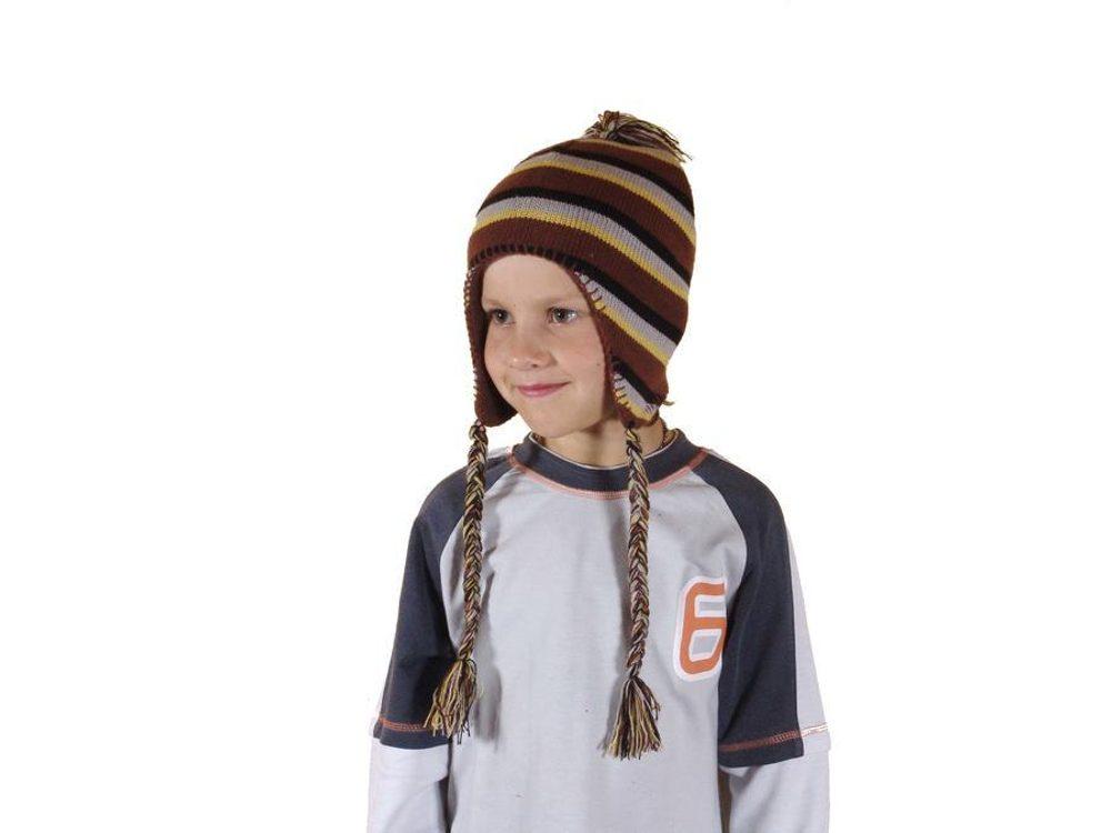 čepice pletená, Bugga, PD371, hnědá - 1/2let