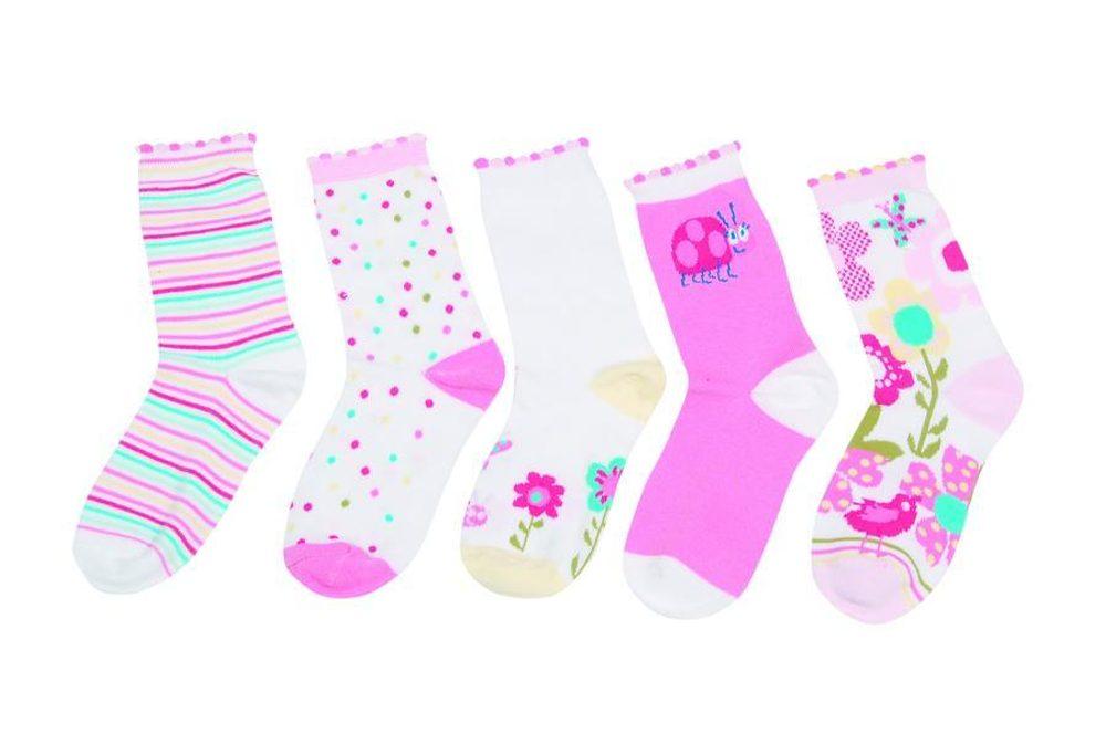 Detské farebné ponožky, Pidilidi, PD512, holka