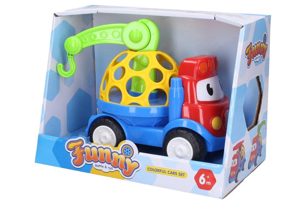 Hrkálka Auto so žeriavom 18 cm, Wiky Vehicles, W007545