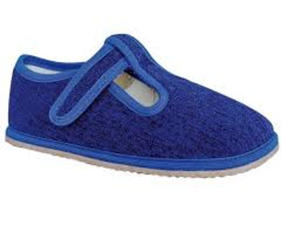 papuče chlapčenské Barefoot RAVEN DENIM, Protetika, tmavě modrá - 24
