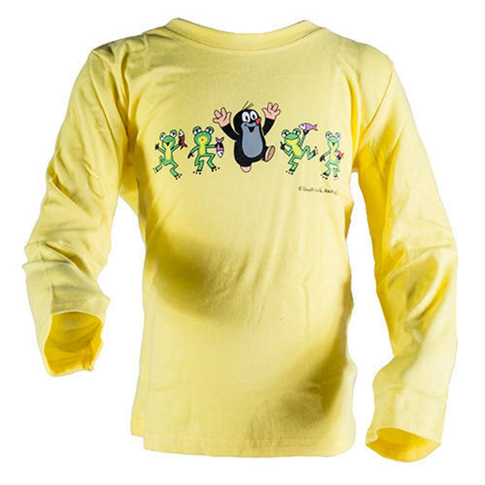 Levně tričko chlapecké KRTEK FROG, Pidilidi, 2013, žlutá - 104