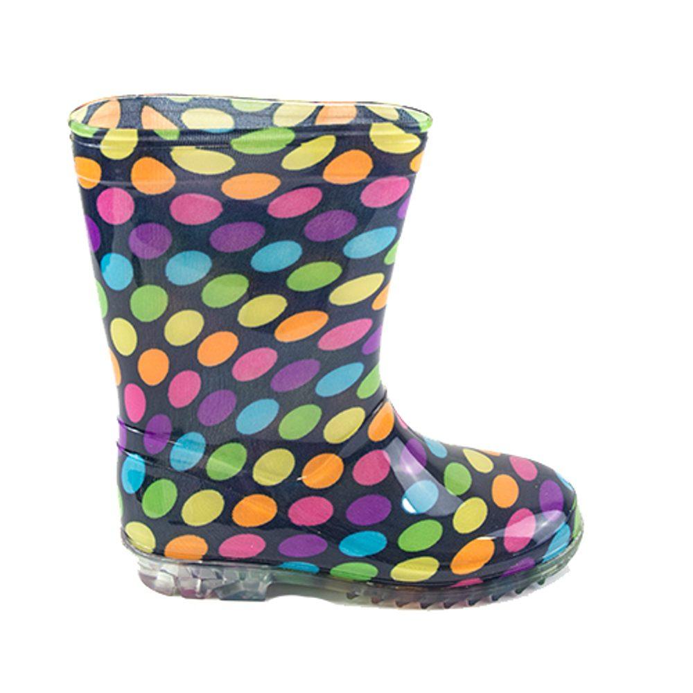 dívčí holínky PVC - barevné puntíky, Pidilidi, PL0079, holka - 24
