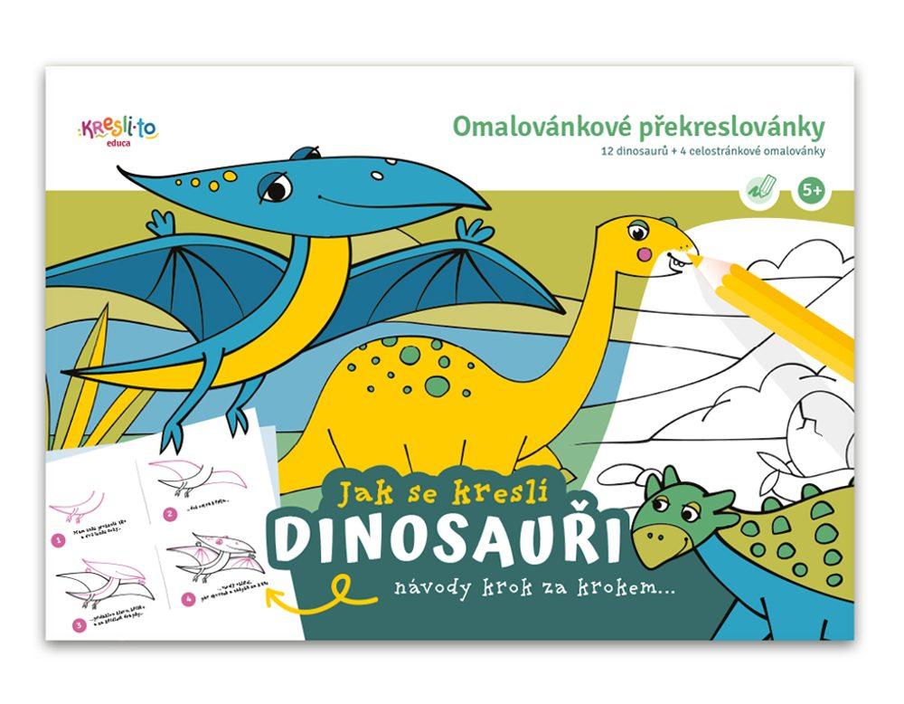 Pracovný zošit Učím sa maľovať - Dinosaury, Kresli.to, W011346