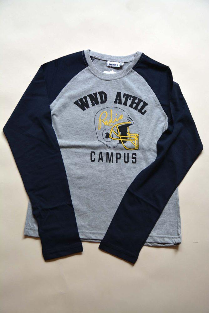 Levně tričko chlapecké s dlouhým rukávem, Wendee, ozfb101629-2, modrá - 128