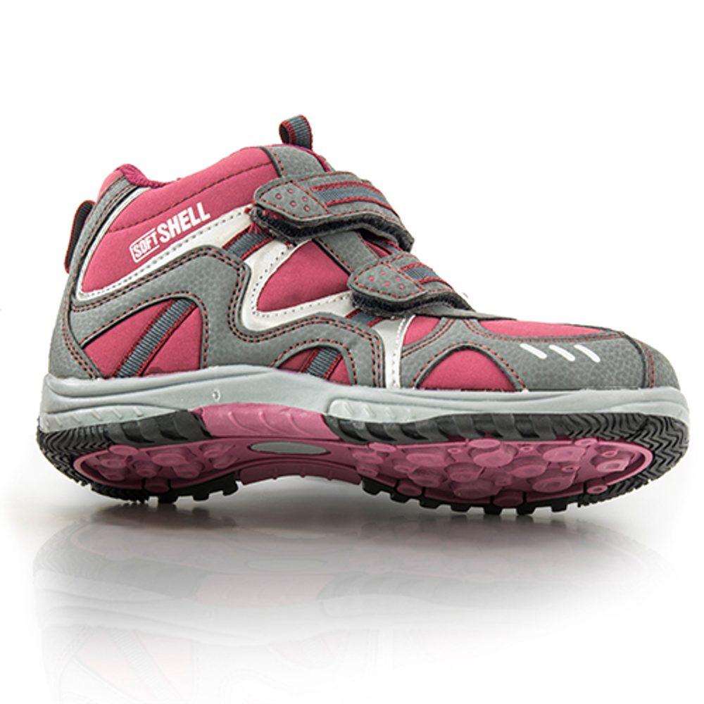 obuv softshell, Bugga, B079, červená - 35