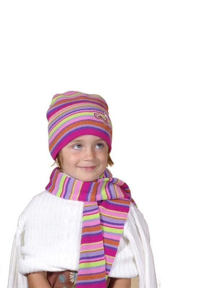 Pletená čepice a šála, Pidilidi, PD373, holka - 1/2let