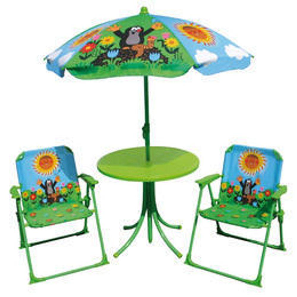 Záhradný set Krtko stoličky + stolík + dáždnik, WIKY, 170401