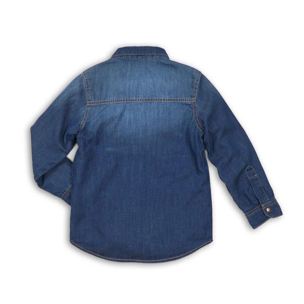 Košile chlapecká, Minoti, ARMY 4, modrá - 140/146