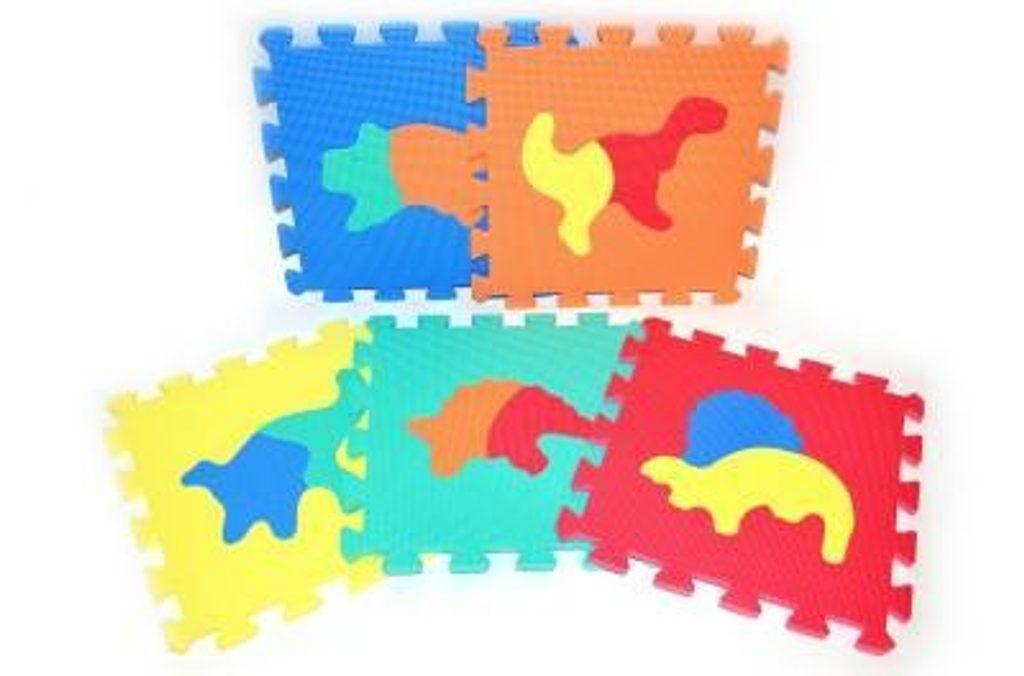 Měkké puzzle bloky DINO 30 cm, WIKY, 118641