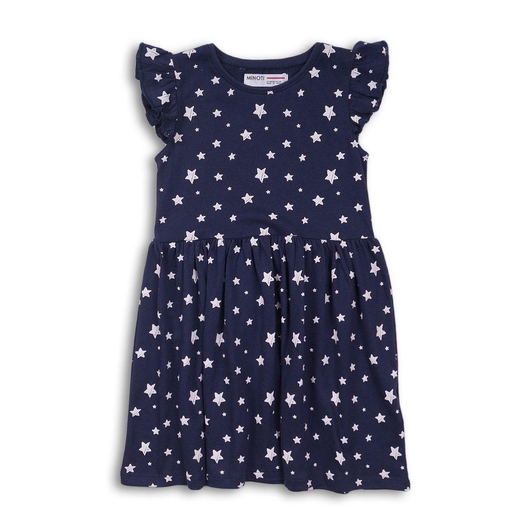 Šaty dívčí bavlněné, Minoti, 2KDRESS10, tmavě modrá - 140/146