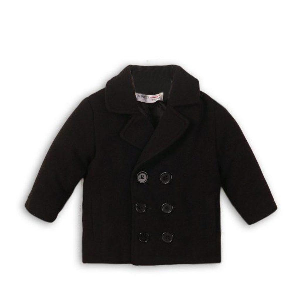 Kabát chlapecký vlněný, Minoti, MONSTER 12, černá - 80/86
