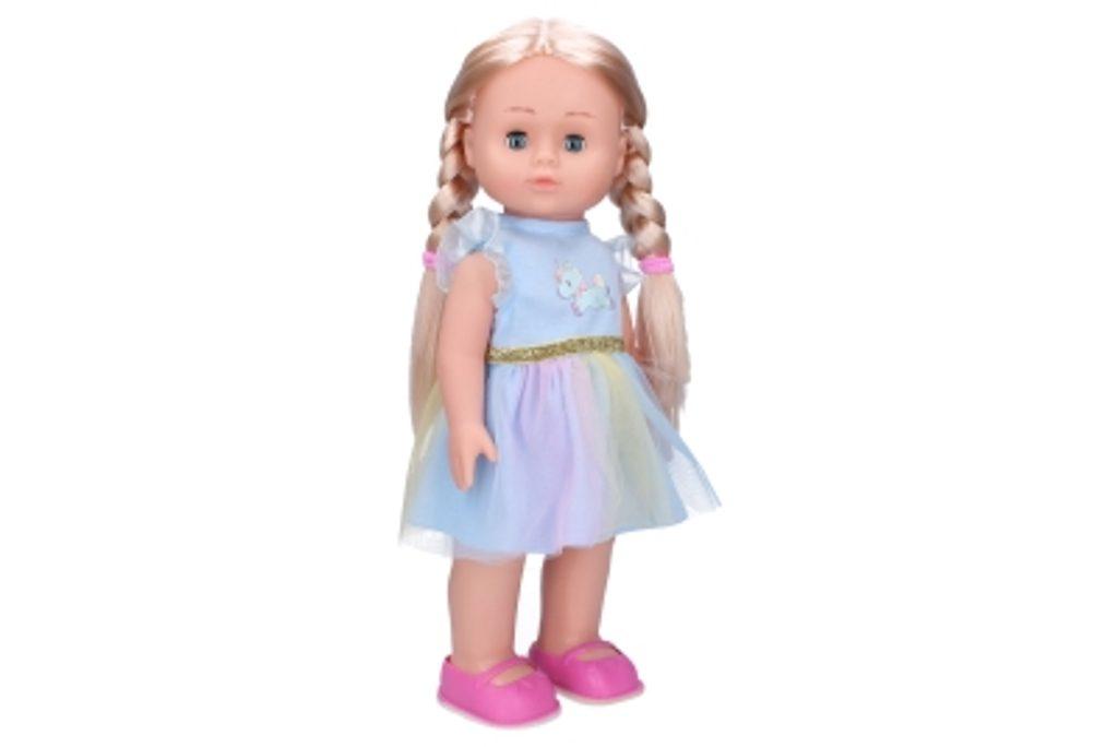 Eliška chodící panenka 41 cm, modré šaty, Wiky, W009318