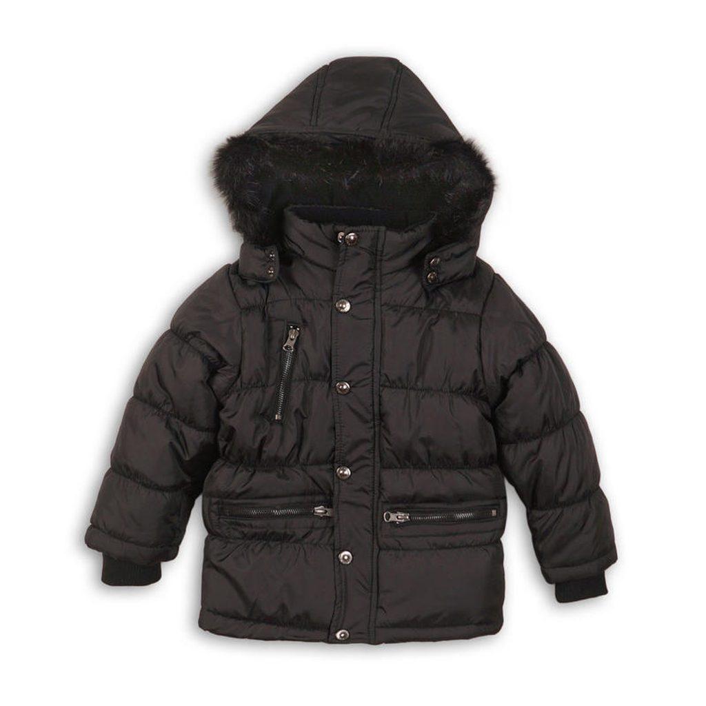 Kabát chlapecký zimní prošívaný, Minoti, MONO 3, černá - 104/110