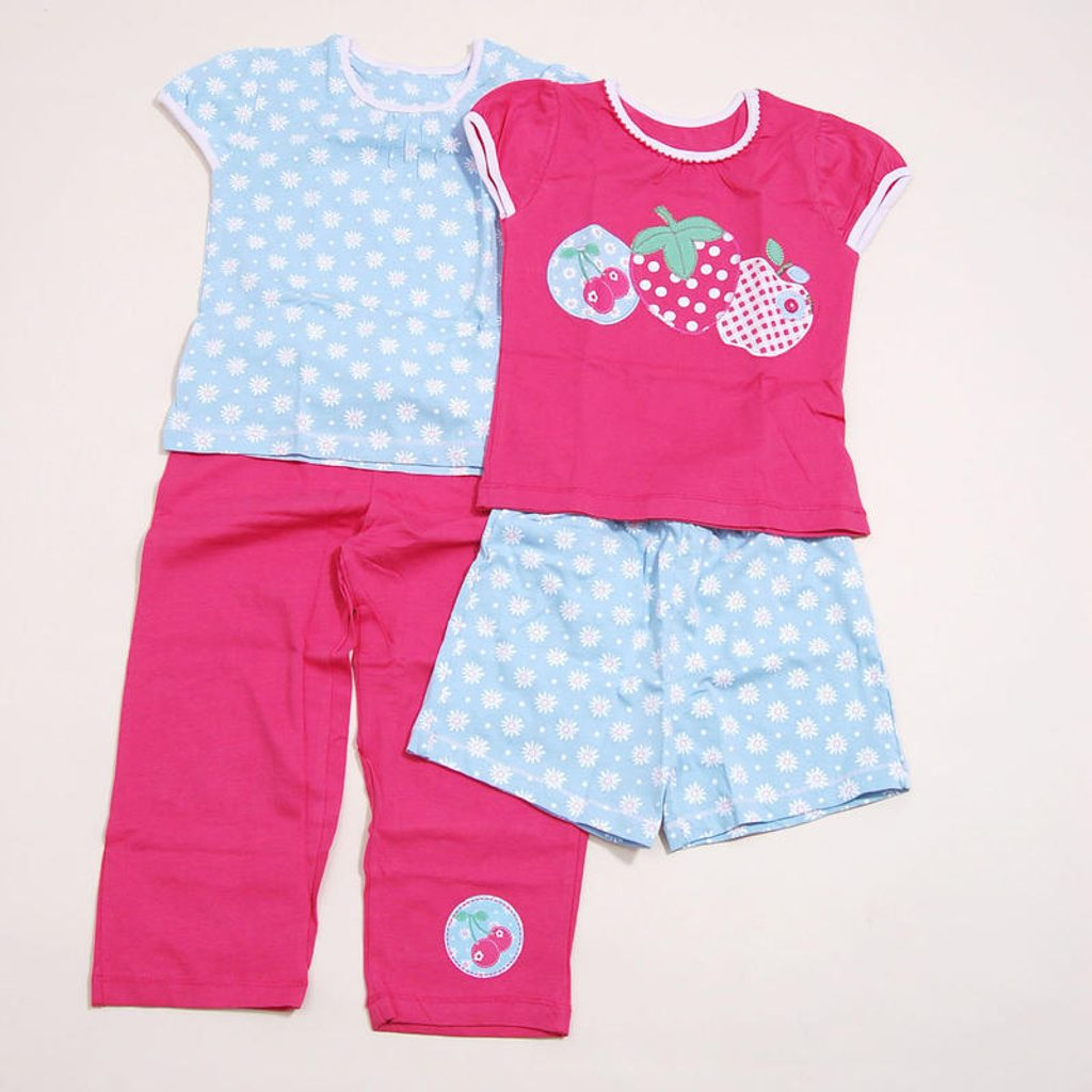 Pyžamo dívčí  letní SET 2ks, Pidilidi, PD810, růžová - 80/86