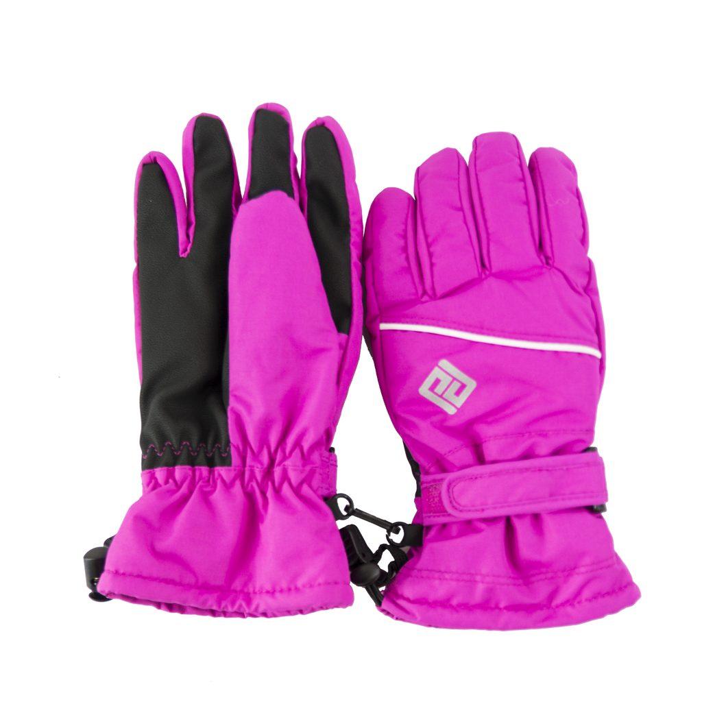 rukavice prstové dětské, Pidilidi, PD0999, růžová - 140/146