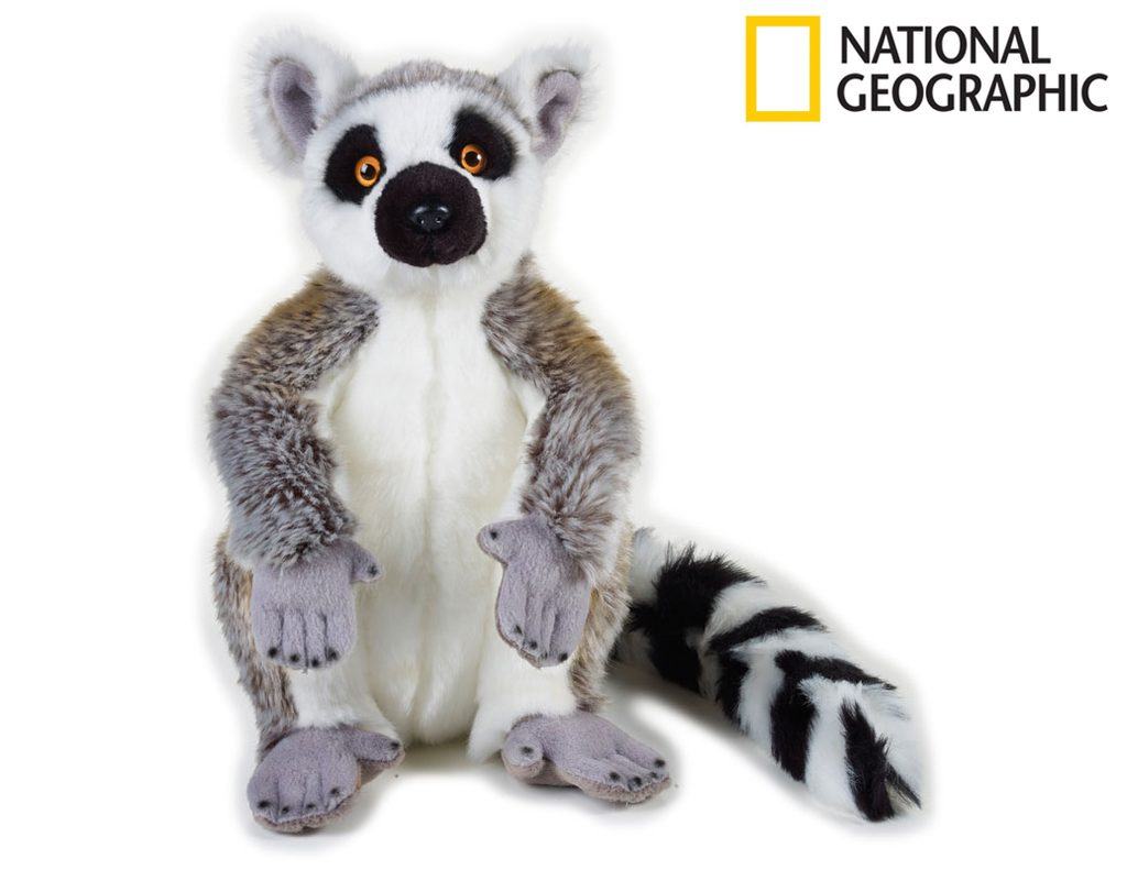 National Geografic Zvířátka z deštného pralesa 770757 Lemur 30 cm, National Geographic, W011604