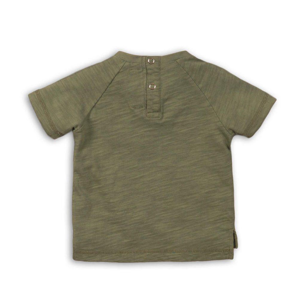 Tričko chlapecké s krátkým rukávem, Minoti, CACTUS 1, khaki - 74/80