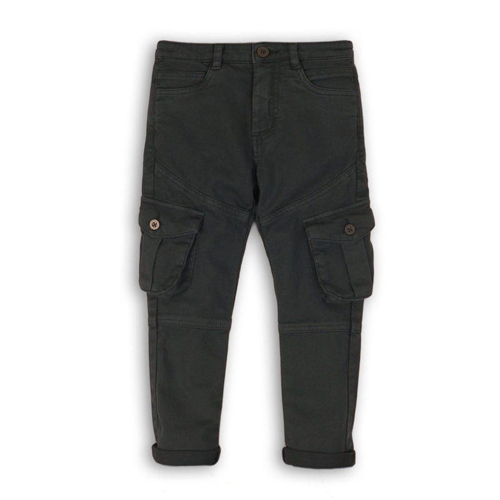 Kalhoty chlapecké s elastenem, Minoti, CITY 10, antracit - 128/134