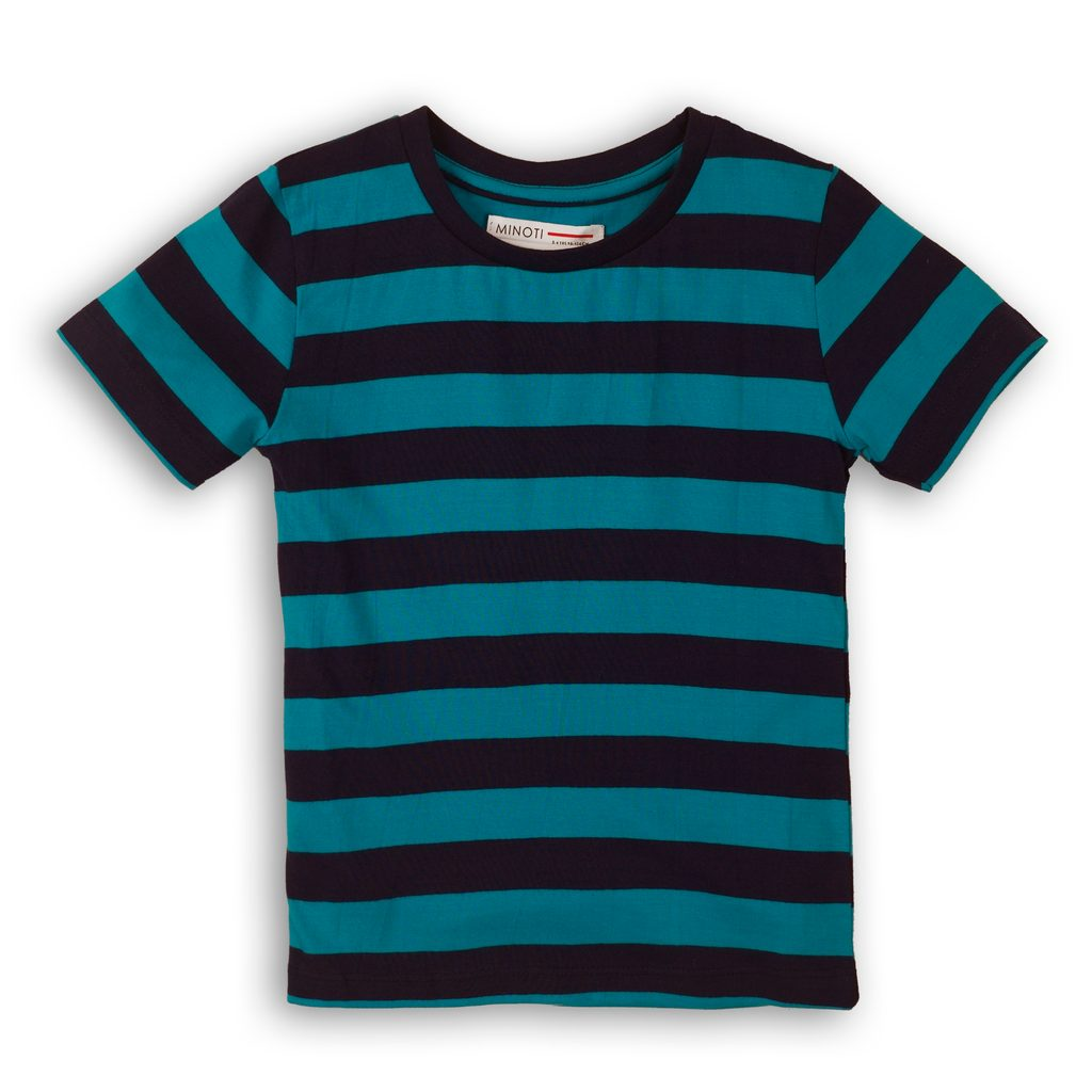Tričko chlapecké s krátkým rukávem, Minoti, 1STRIPE 3, modrá - 104/110