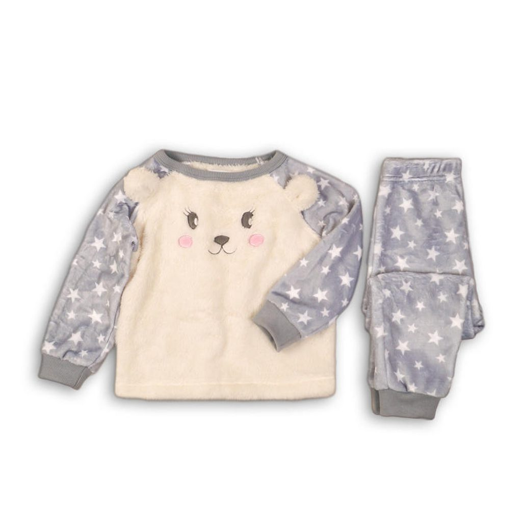 Pyžamo dívčí fleezové, Minoti, FLUFF 8, holka - 80/86