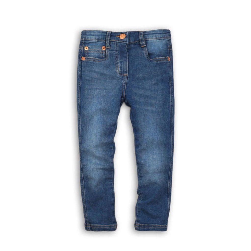 Kalhoty dívčí džínové s elastenem, Minoti, FRENCH 8, modrá - 104/110