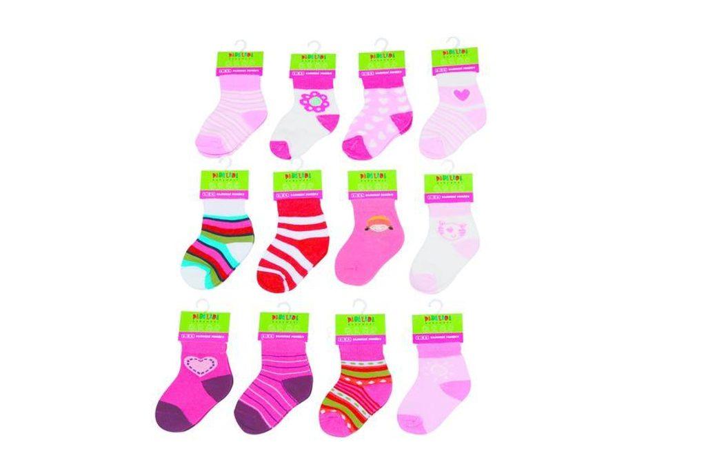 Kojenecké ponožky dívčí (6 až 12m), Pidilidi, PD503, holka - 68/80