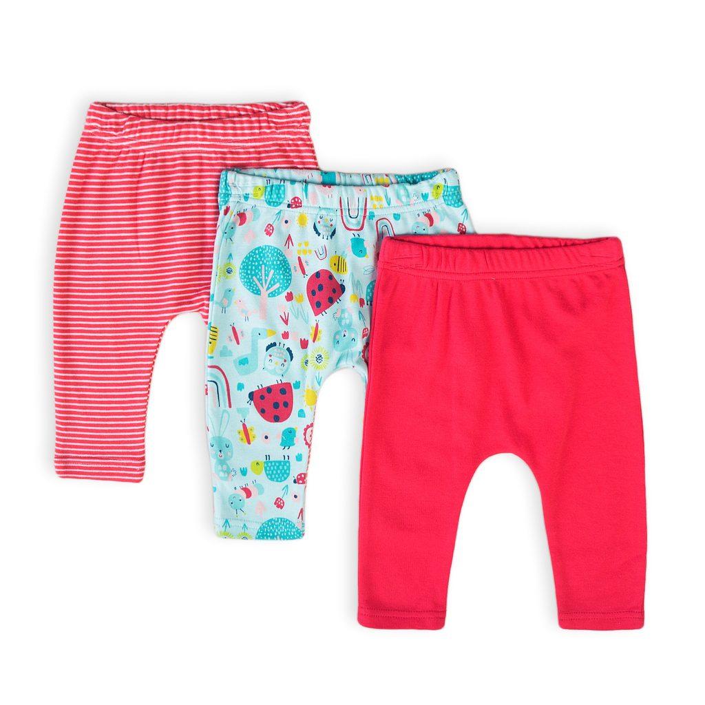 Kalhoty kojenecké 3pack, Minoti, Ladybug 5, holka - 74/80