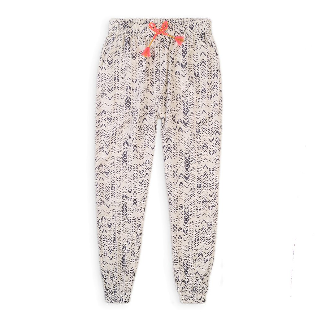 Kalhoty dívčí harémové, Minoti, Neon 6, béžová - 98/104