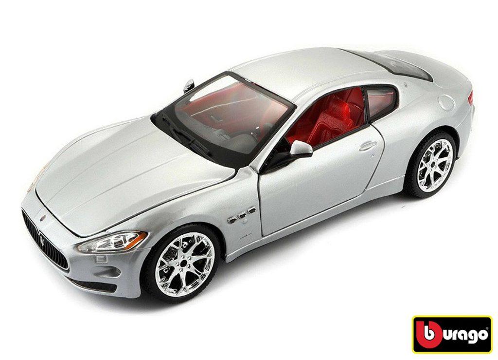 Bburago 1:24 Maserati GranTurismo (2008) Silver, Bburago, W007323