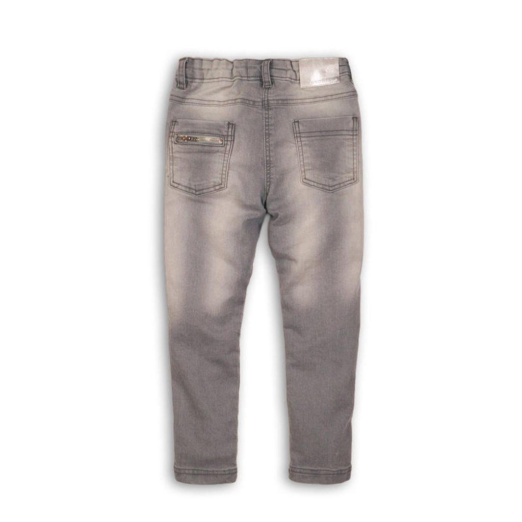 Kalhoty dívčí džínové s elastenem, Minoti, SUPER 4, šedá - 68/80