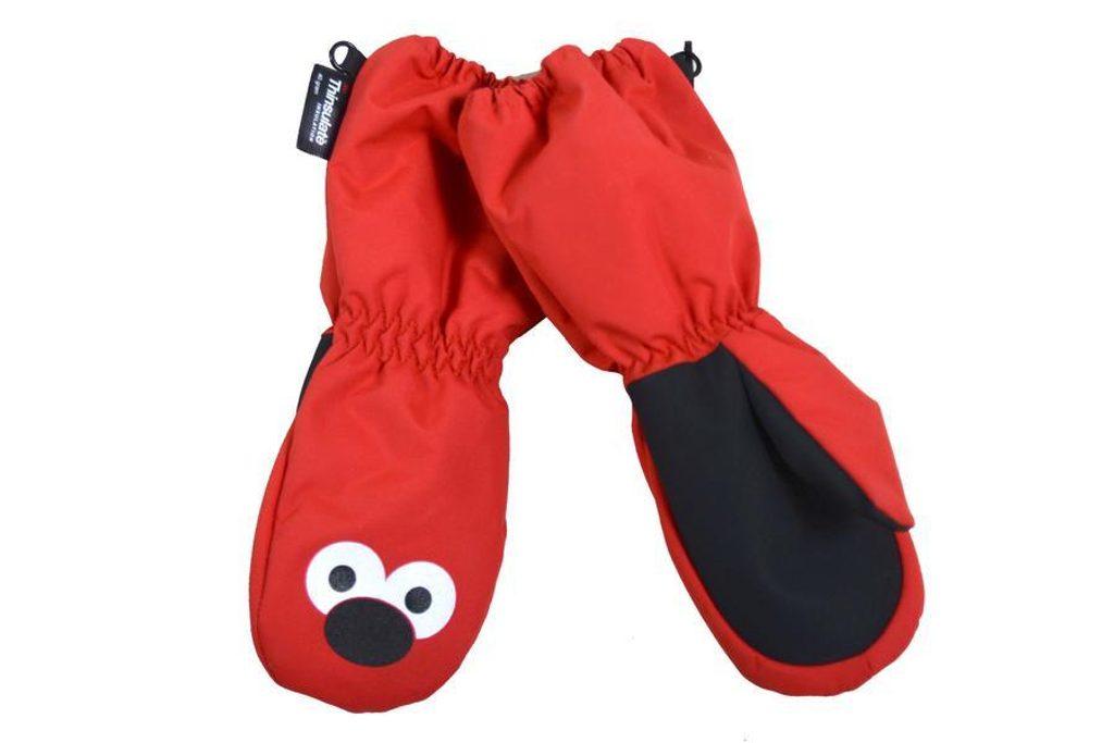 rukavice palcové dětské, Pidilidi, PD1030-08, červená - 92/98