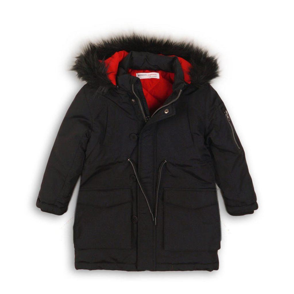 Kabát chlapecký zimní Parka, Minoti, CITY 1, černá - 128/134