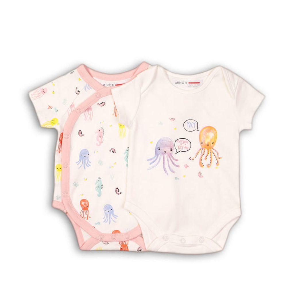 Body kojenecké s krátkým rukávem, Minoti, Sea 6, bílá - 68/74
