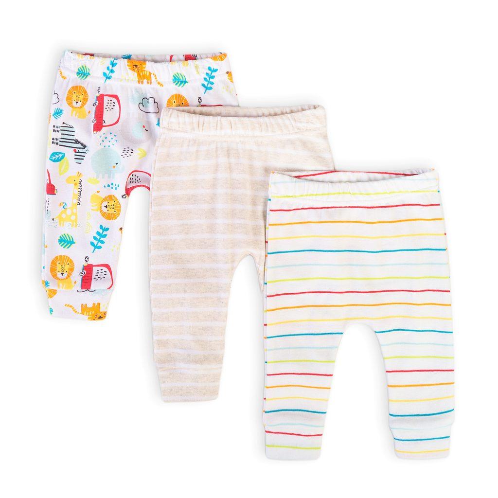 Kalhoty kojenecké 3pack, Minoti, Car 11, bílá - 62/68