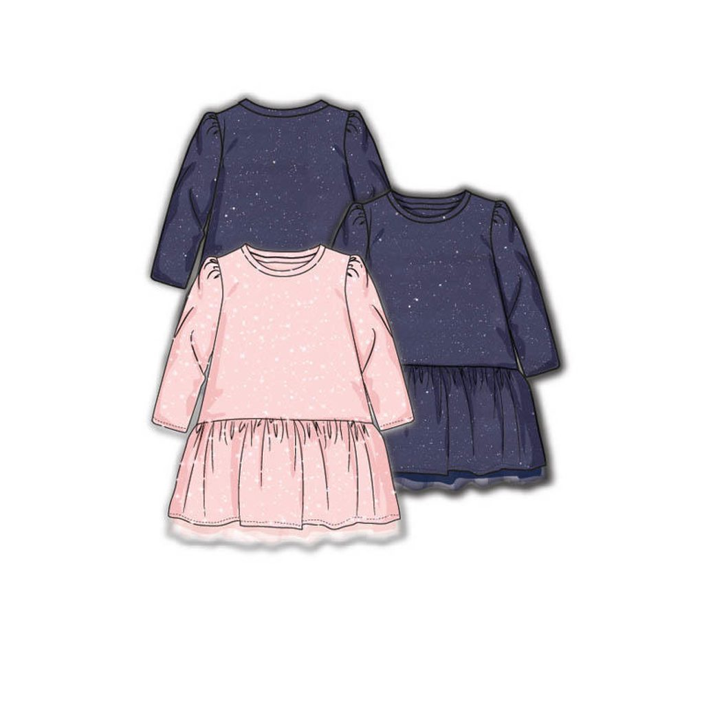 Šaty dívčí s elastenem, Minoti, ODYSSEY 4, modrá - 92/98