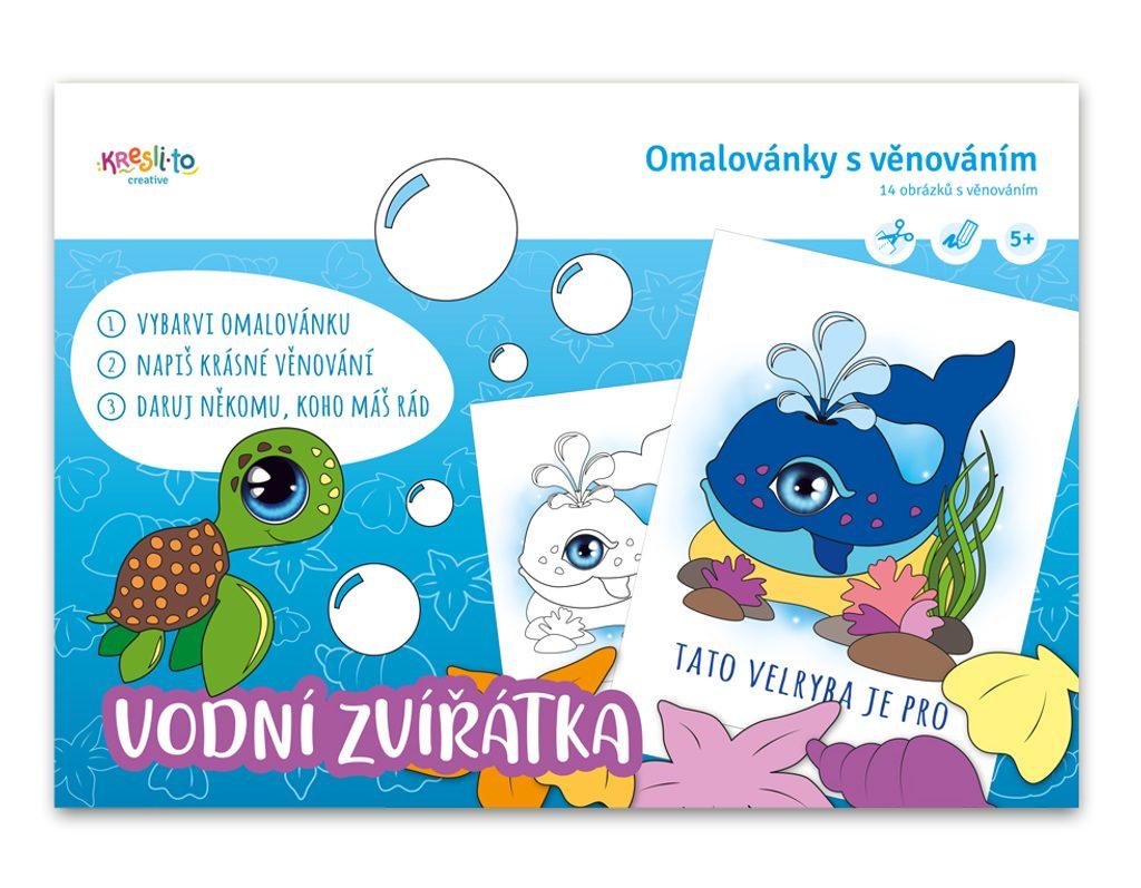 Vymaluj přání - vodní zvířátka, Kresli.to, W011345