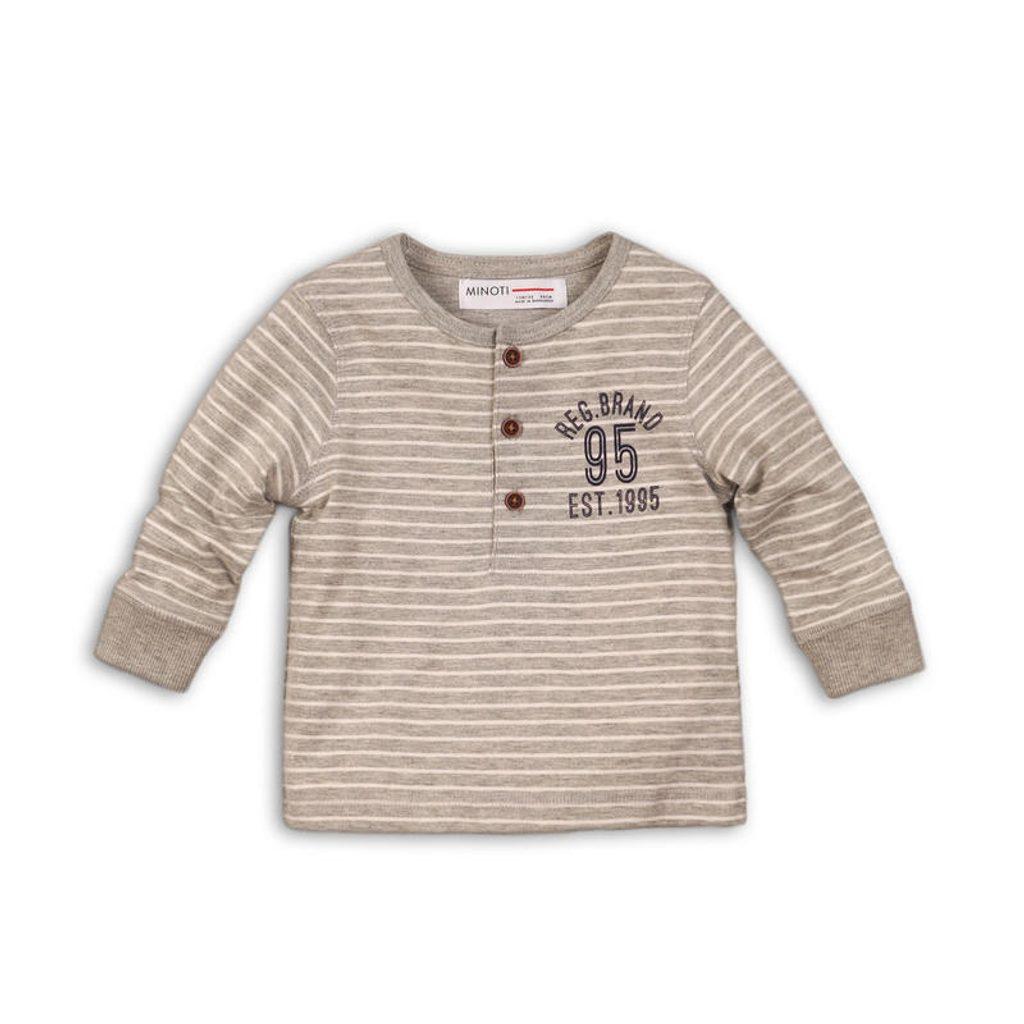 Tričko chlapecké s dlouhým rukávem, Minoti, ARCTIC 3, šedá - 98/104