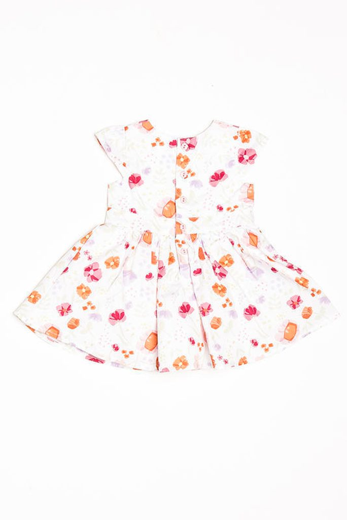 Šaty kojenecké s mašlí, Minoti, flowers 6, holka - 68/74